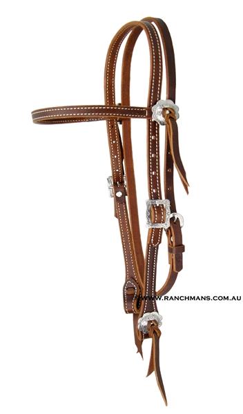 Weaver 169 Stockman Burgundy Latigo Browband Headstall