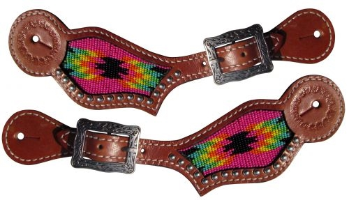 Showman 174 Ladies Navajo Beaded Inlay Spur Straps