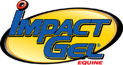 "Impact Gel 1"" Wool Western Contour Saddle Pad"